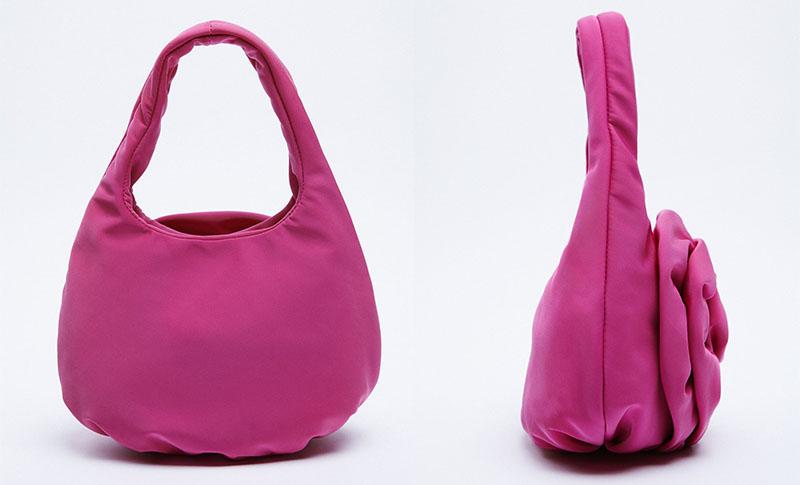 zara torbica roze boje